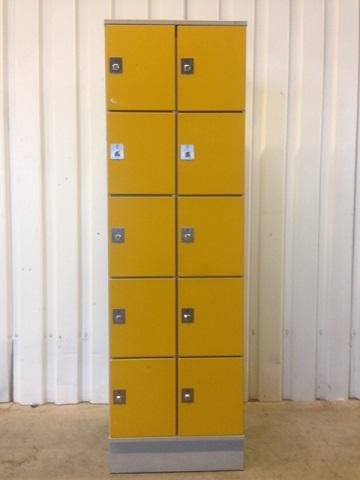 Locker 10 vaks geel/grijs