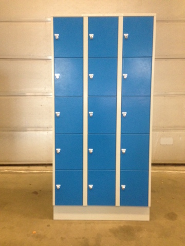Lockerkast 15 vaks blauw