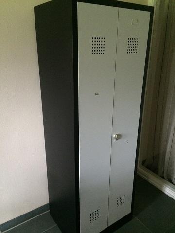 Kledingkast 2 deurs zwart/grijs