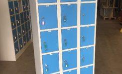 15 vaks lockerkast met inliggende deuren