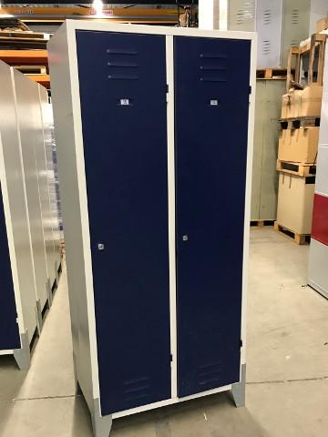 2-deurs kledingkast, grijs/blauw